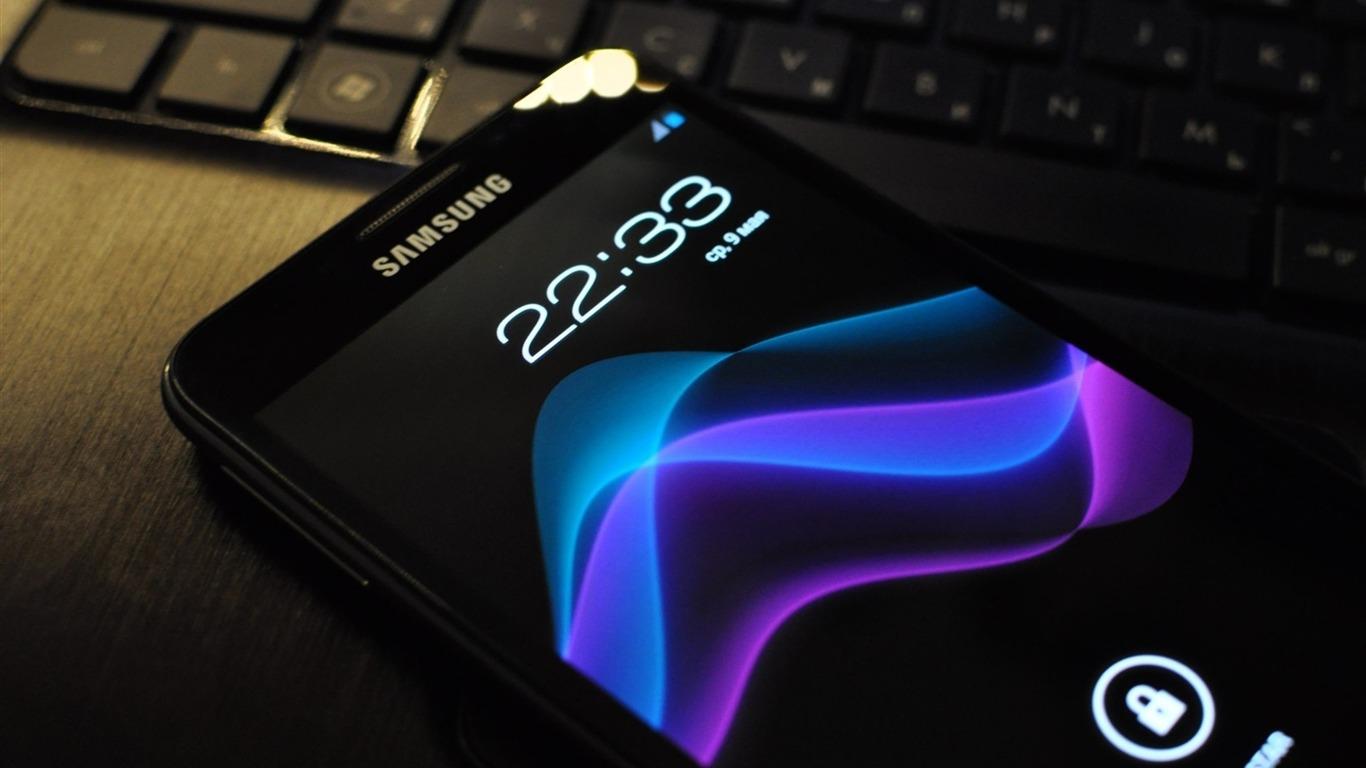 三星手机Android Galaxy-数码品牌广告高清壁纸预览