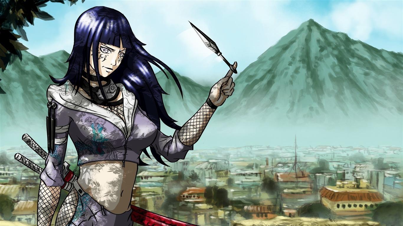 Naruto Naruto Shippuden Hinata Hyuga Anime Personajes Fondo
