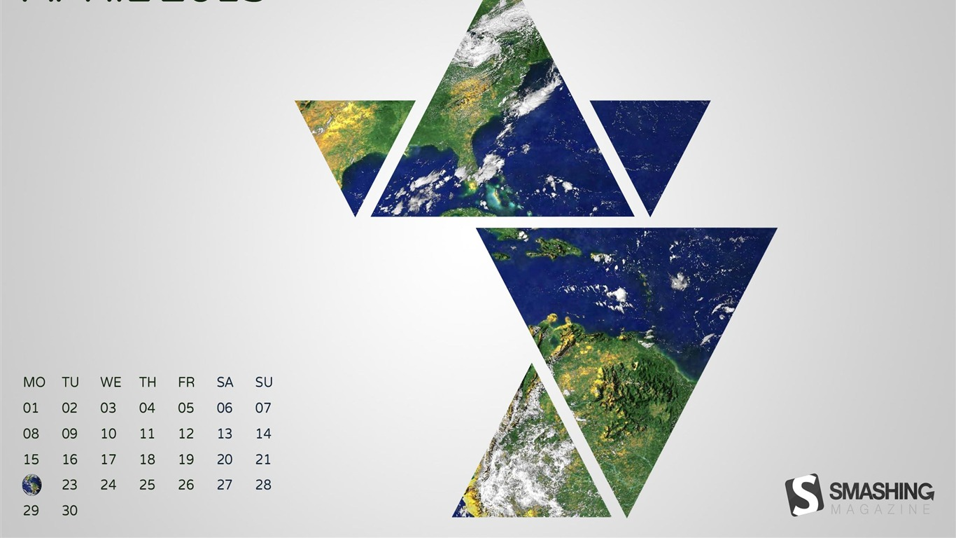 Abstract Earth April 2013 Calendar Desktop Wallpaper Preview