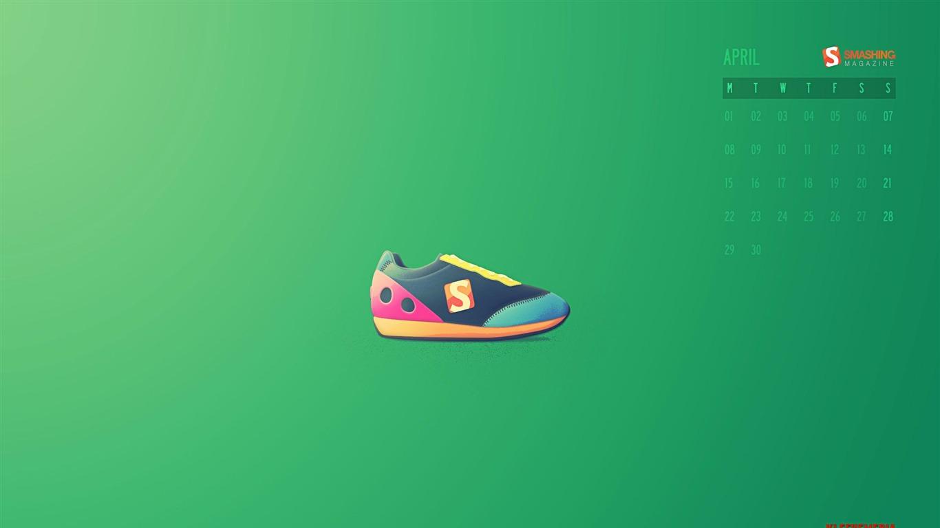 Sneakers Time April 2013 Calendar Desktop Wallpaper Preview