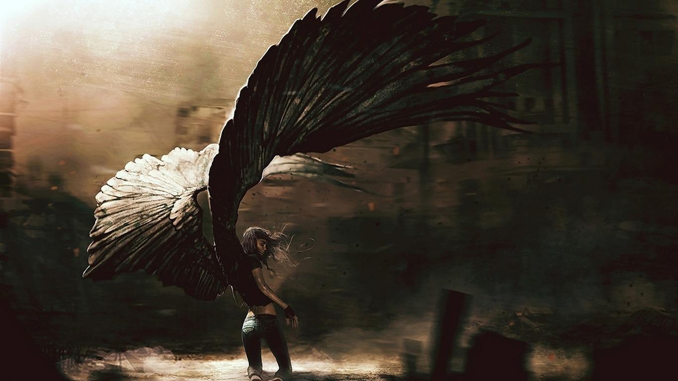 fille d u0026 39 ange d u00e9chu ailes
