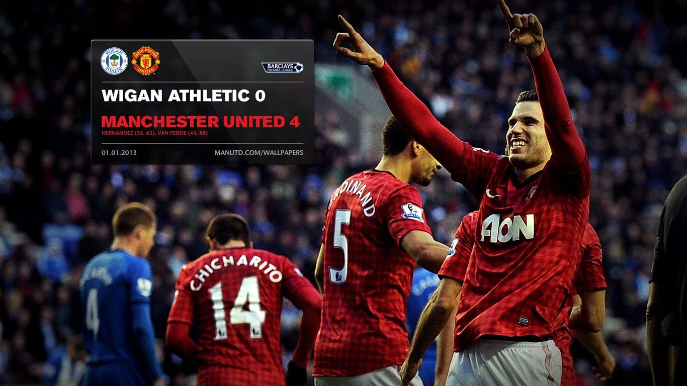 Wigan Athletic 0 Manchester United 4-FA Premier League