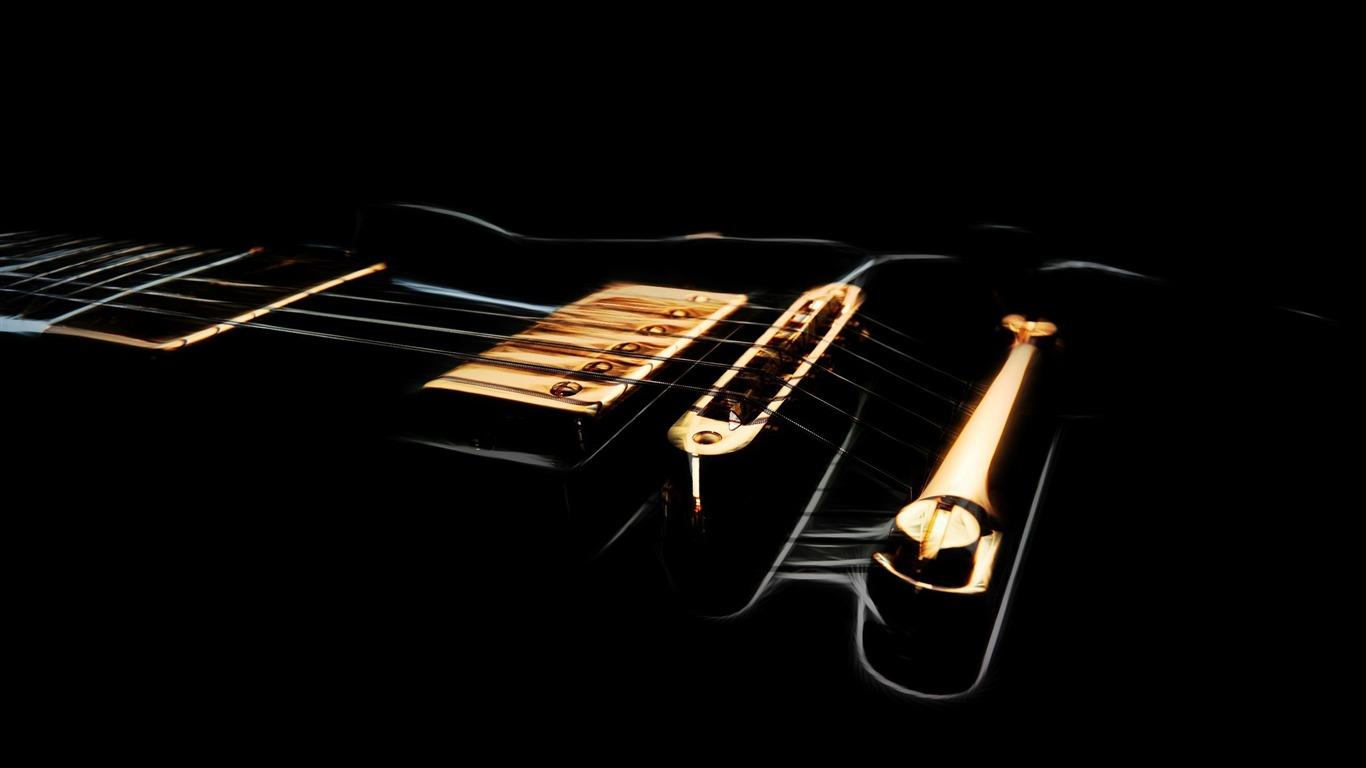 黒のエレキギター 音楽テーマの壁紙プレビュー 10wallpaper Com