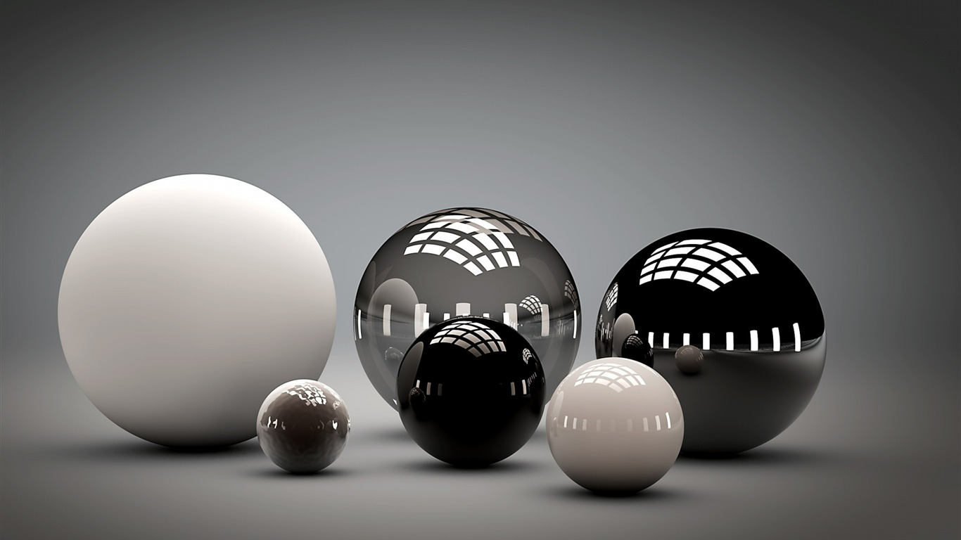 balls_shaped_sleek_reflection-Design_HD_wallpaper2013.8.18