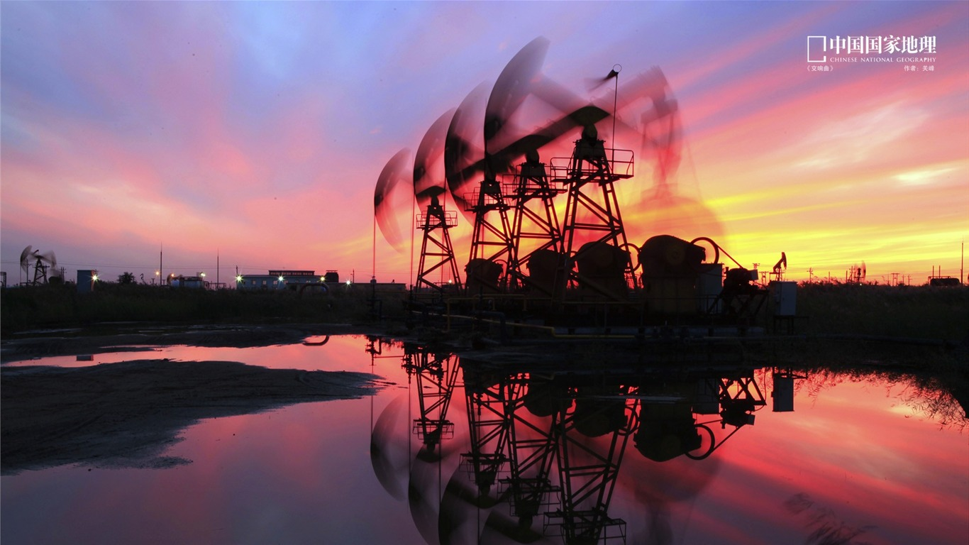 Oilfield_sunset-China_National_Geographic_wallpaper2013.9.17