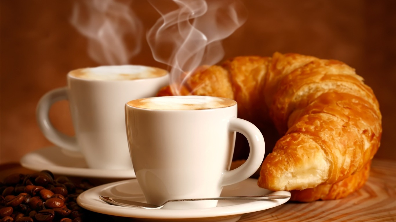 croissant_drink_couples-Food_HD_Wallpaper2013.9.20