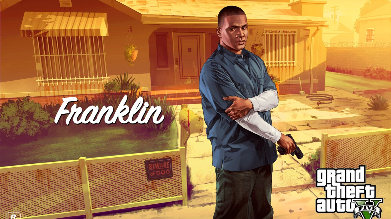 Franklin Grand Theft Auto V Gta 5 Game Hd Wallpapers Preview