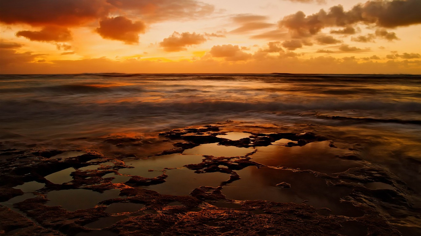 sea_sunset-landscape_HD_Wallpaper2013.9.21
