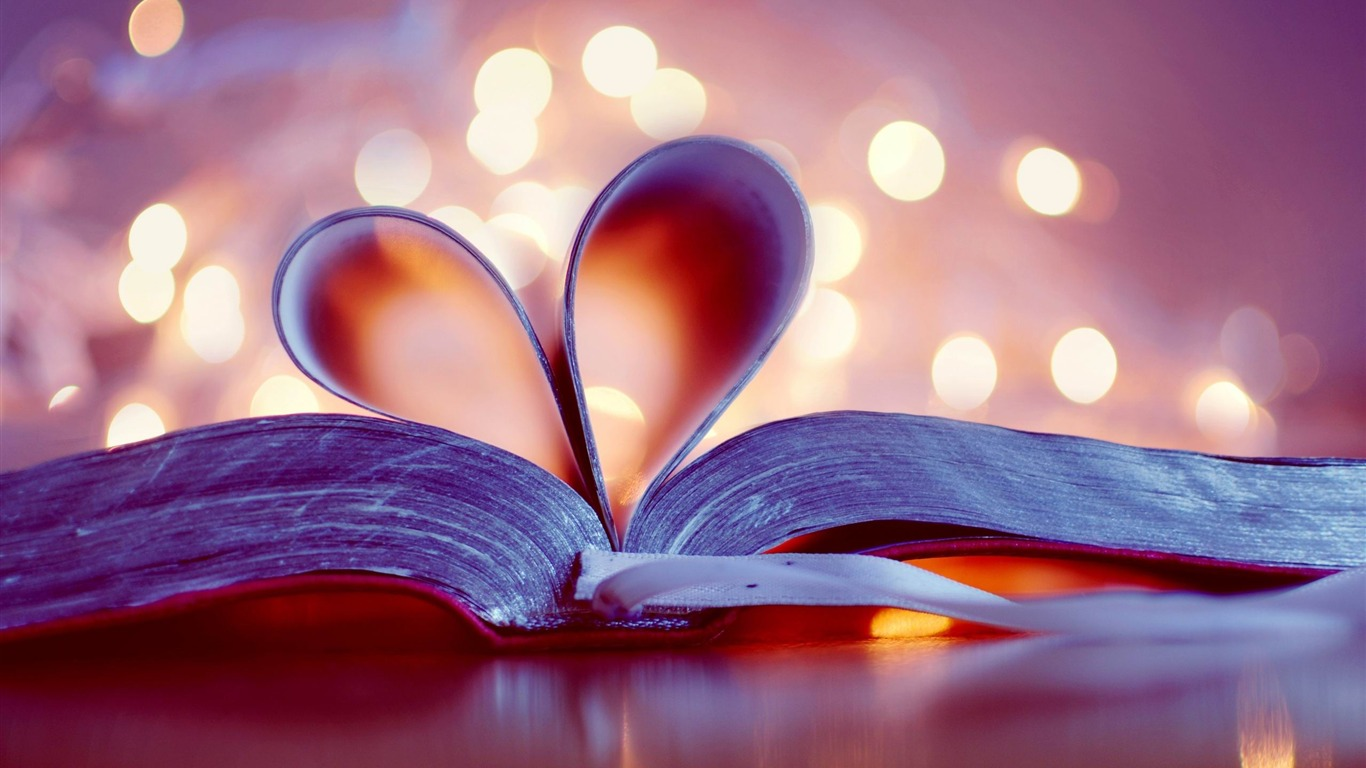 Bokeh Bookmark Heart Romantic Hd Wallpaper Preview