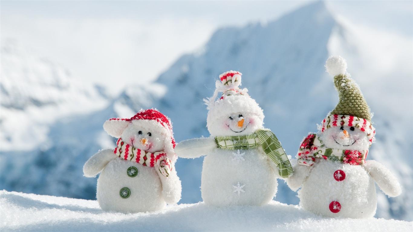 幸せな雪だるま 祭りのテーマの壁紙プレビュー 10wallpaper Com