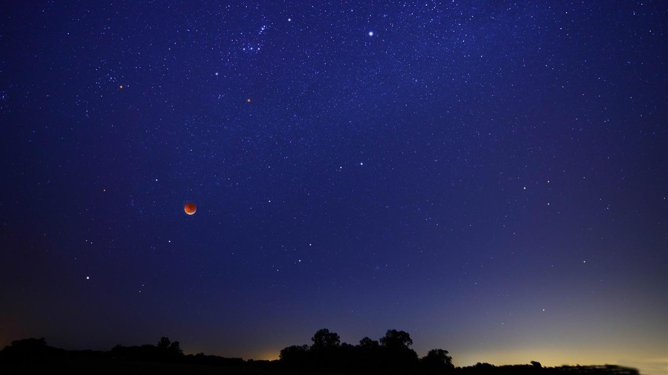 星空と満月 夜空のhdの壁紙プレビュー 10wallpaper Com