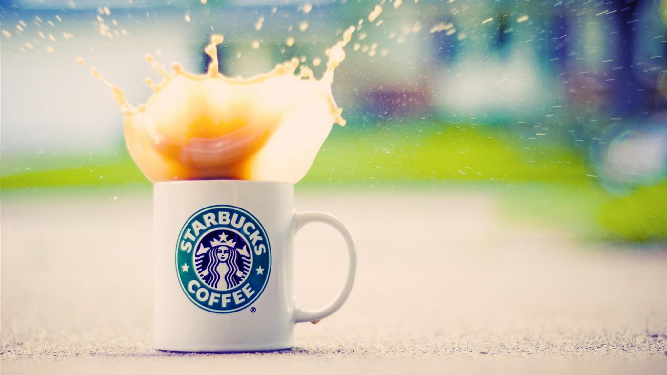 Starbucks coffee publicit de marque fond d 39 cran aper u for Fond ecran marque