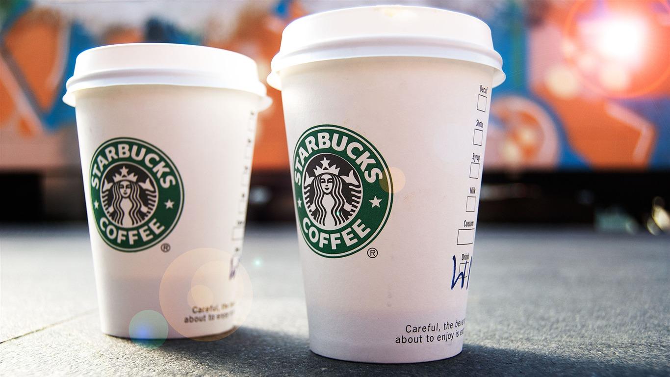 Papel Pintado Publicitario De La Marca Starbucks Coffee 22