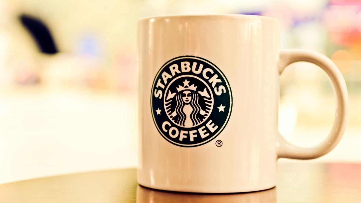 Papel Pintado Publicitario De La Marca Starbucks Coffee 25