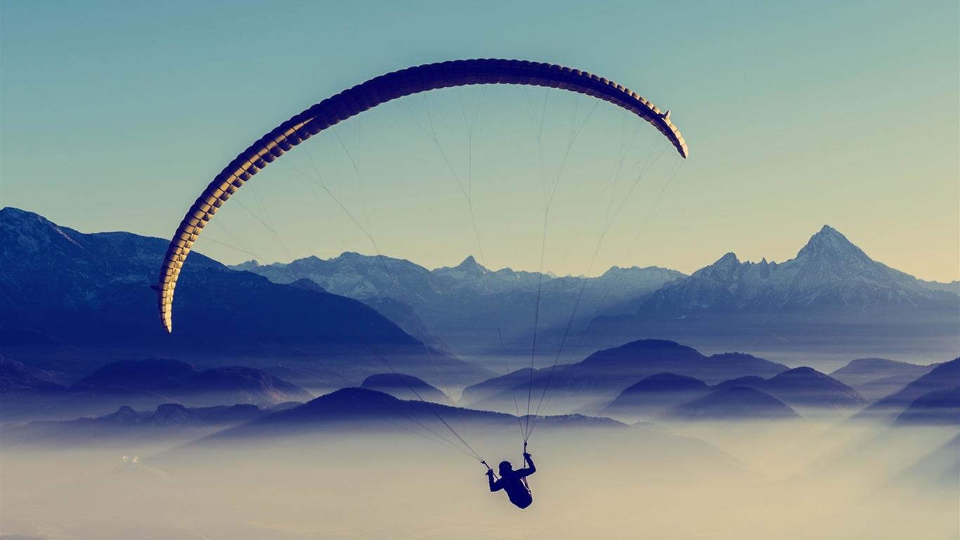 ciel en parapente-Sport HD Fonds d'écran-1366x768 ...