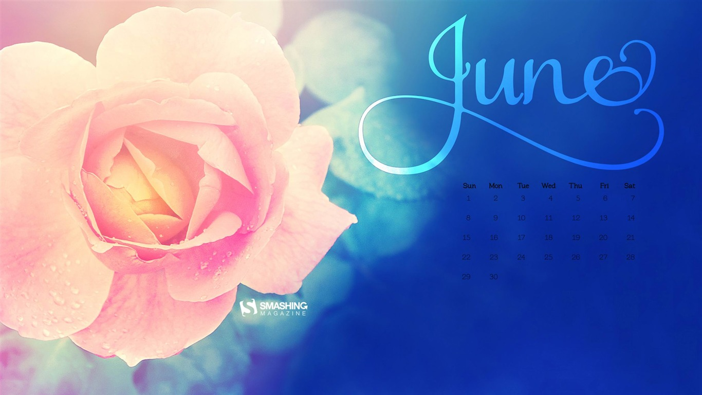 Other / La Vie En Rose-June 2014 calendar wallpaper