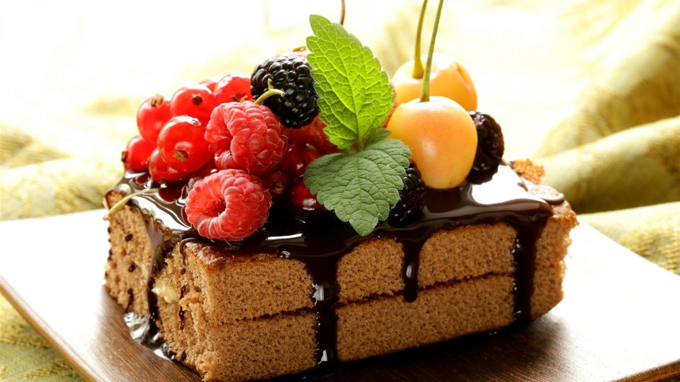 ケーキチョコレートフロスティング ワイドスクリーンの壁紙プレビュー