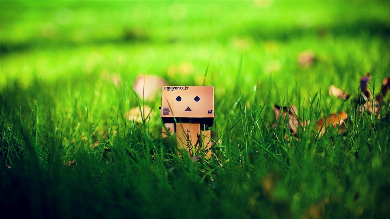 Cute_Danbo_On_Grass-High_quality_wallpaper2014.8.3