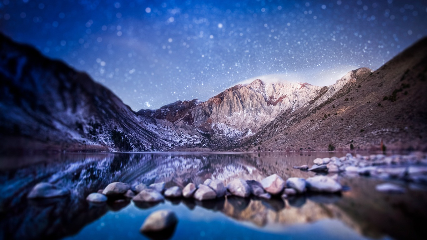 Mountains At Night Nature Photo Wallpaper Avance