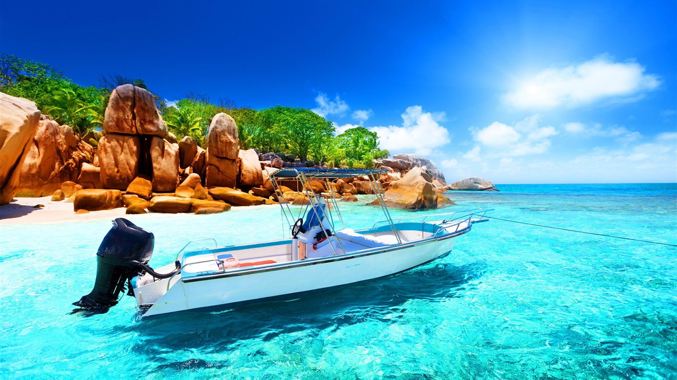 Digue Seychelles Paysage Fond D Ecran Hd Apercu 10wallpaper Com