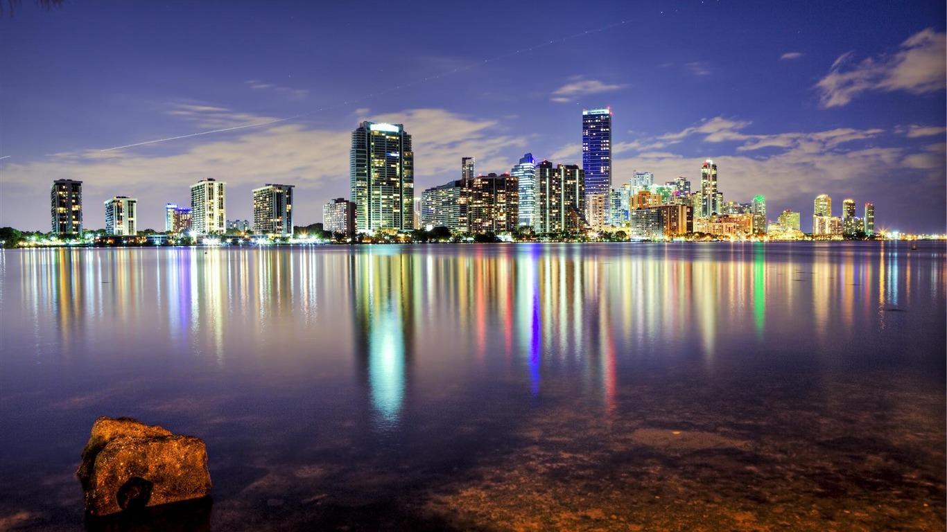 Miami Florida Skyline Landscape Hd Fondo De Pantalla Avance