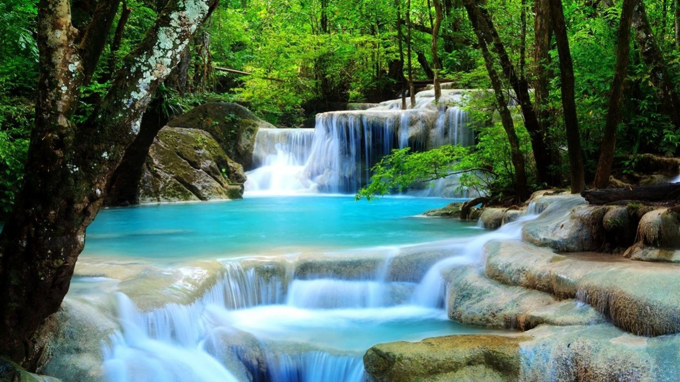 Tropical waterfall desktop wallpaper preview 10wallpaper landscape tropical waterfall desktop wallpaper voltagebd Image collections