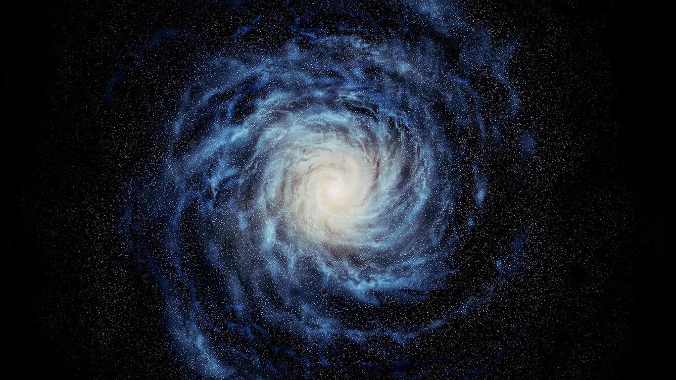 青い宇宙の銀河 Apple Ios8 Iphone6 Plus Hdの壁紙プレビュー