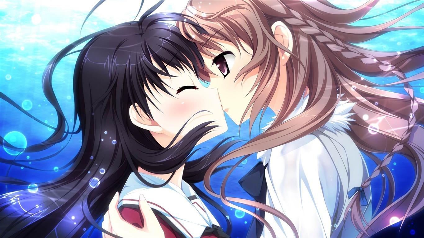Cute anime girl design desktop wallpaper 17 Preview ...