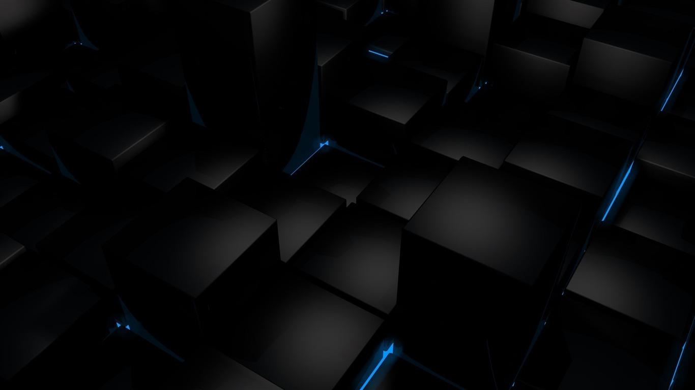 クールブラック3d 抽象的な壁紙プレビュー 10wallpaper Com