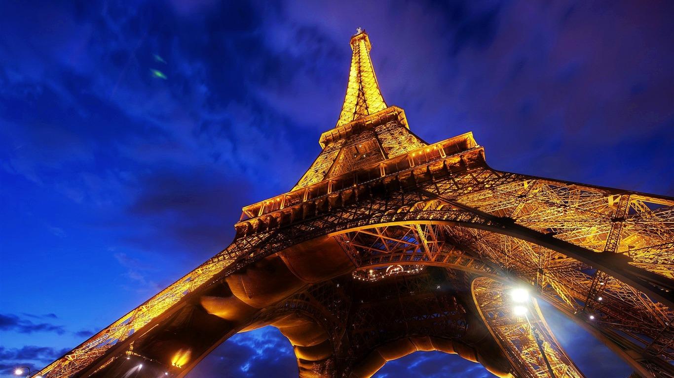 Eiffel Tower Paris Night Photography Hd Fondos De Pantalla