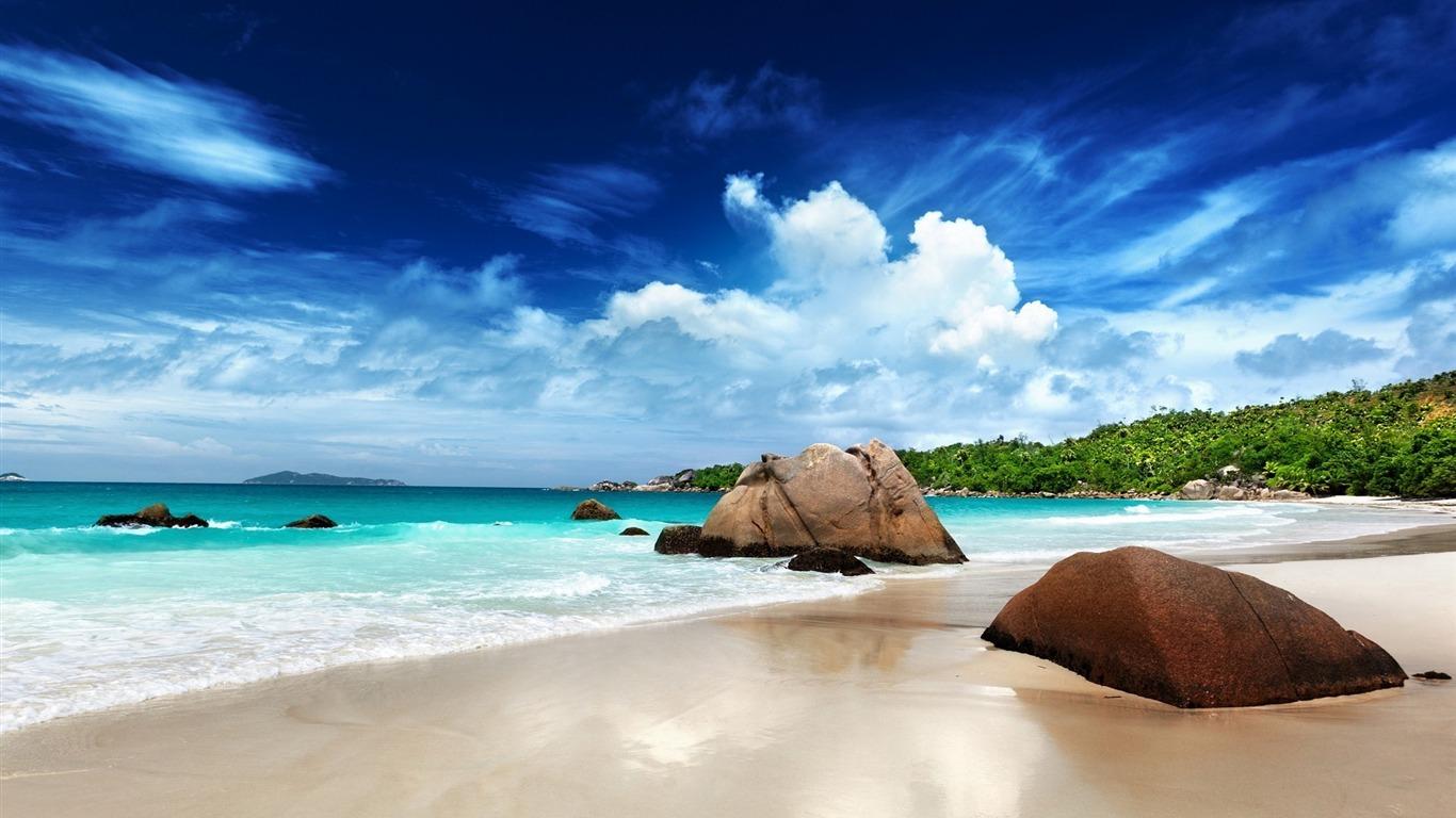 Seychelles Beach Rocks 2014 Hd Desktop Wallpaper Preview