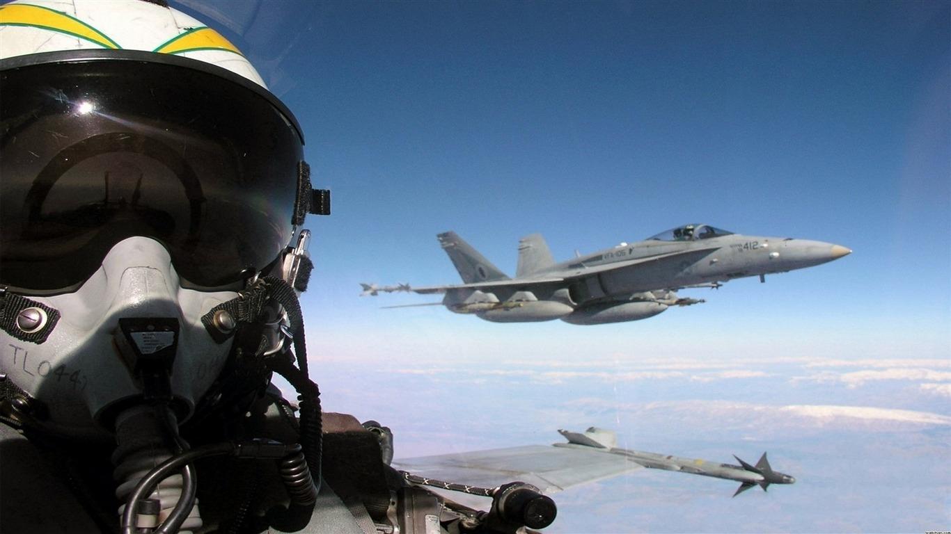 Fighter Jet Pilot Military Fondo De Pantalla Hd Avance