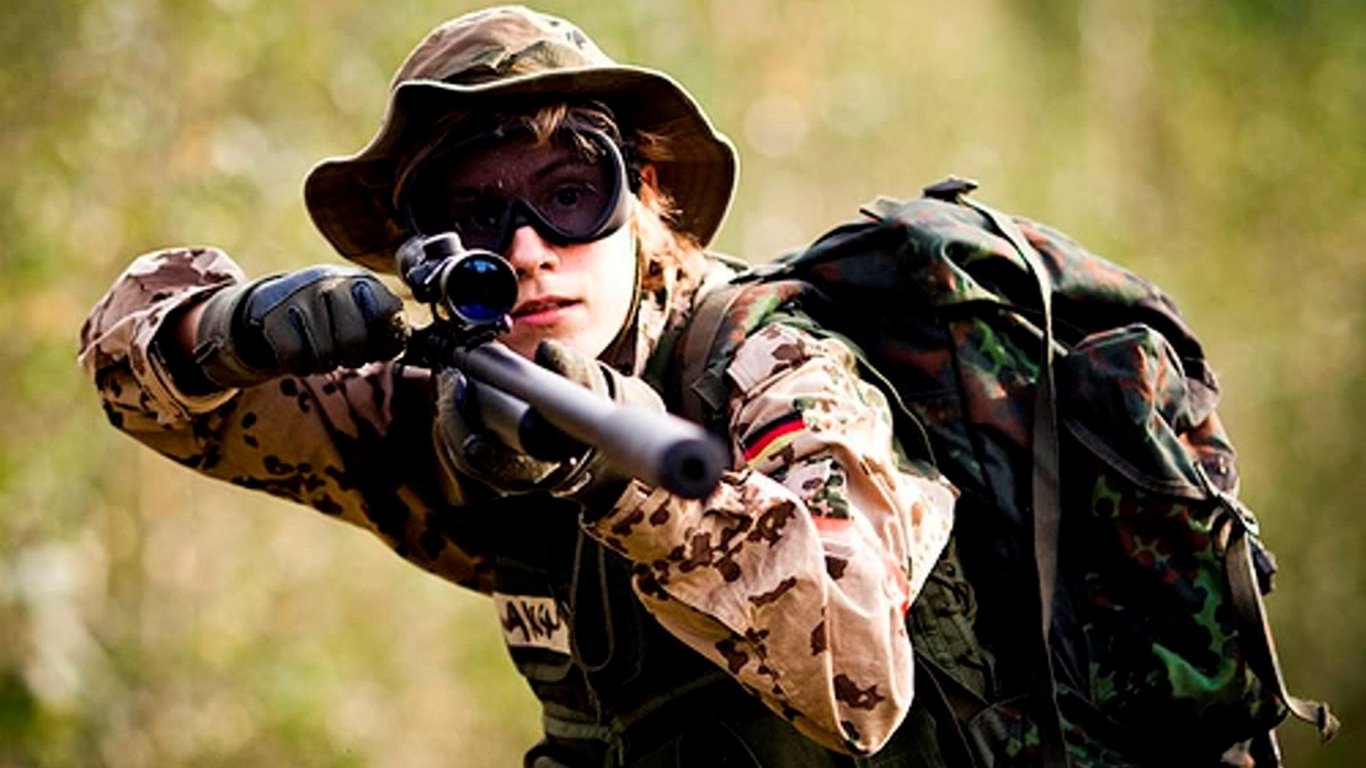 Sniper Girl Soldier-Military HD