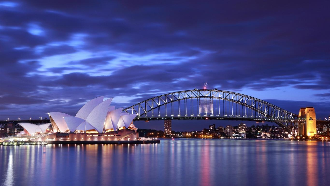 悉尼夜城 摄影高清壁纸预览 10wallpaper Com