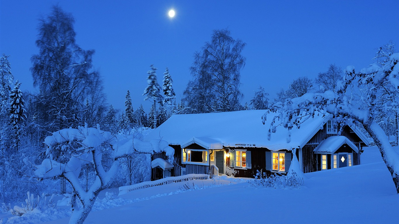 Winter_rural_house-Windows_10_HD_Wallpaper2015.1.2