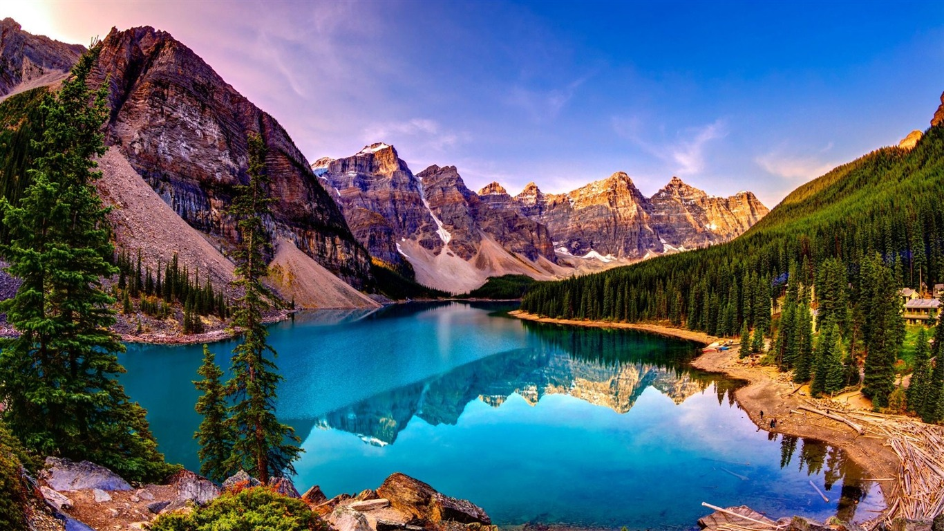 Moraine Lake Sunset-HD Scenery Wallpaper Preview