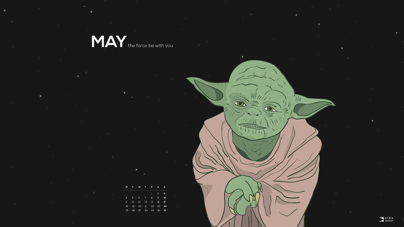 May The Force Be With You May 2015 Calendar Wallpaper Preview