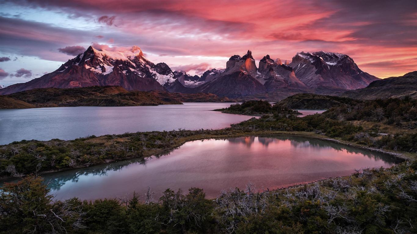Montaña Nieve Lago Windows 10 Fondo De Pantalla Hd Avance