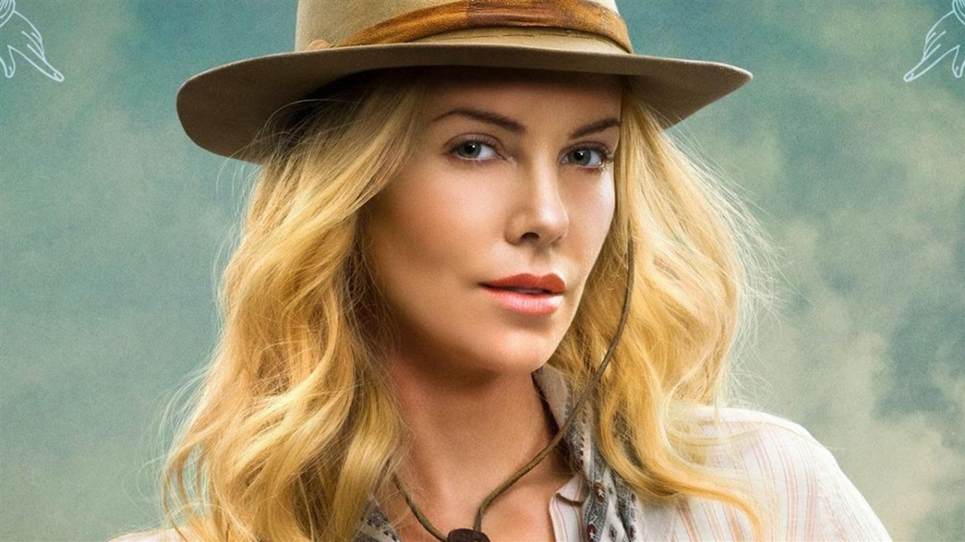 Charlize Theron White Hat Photos Fondo De Pantalla Hd Avance