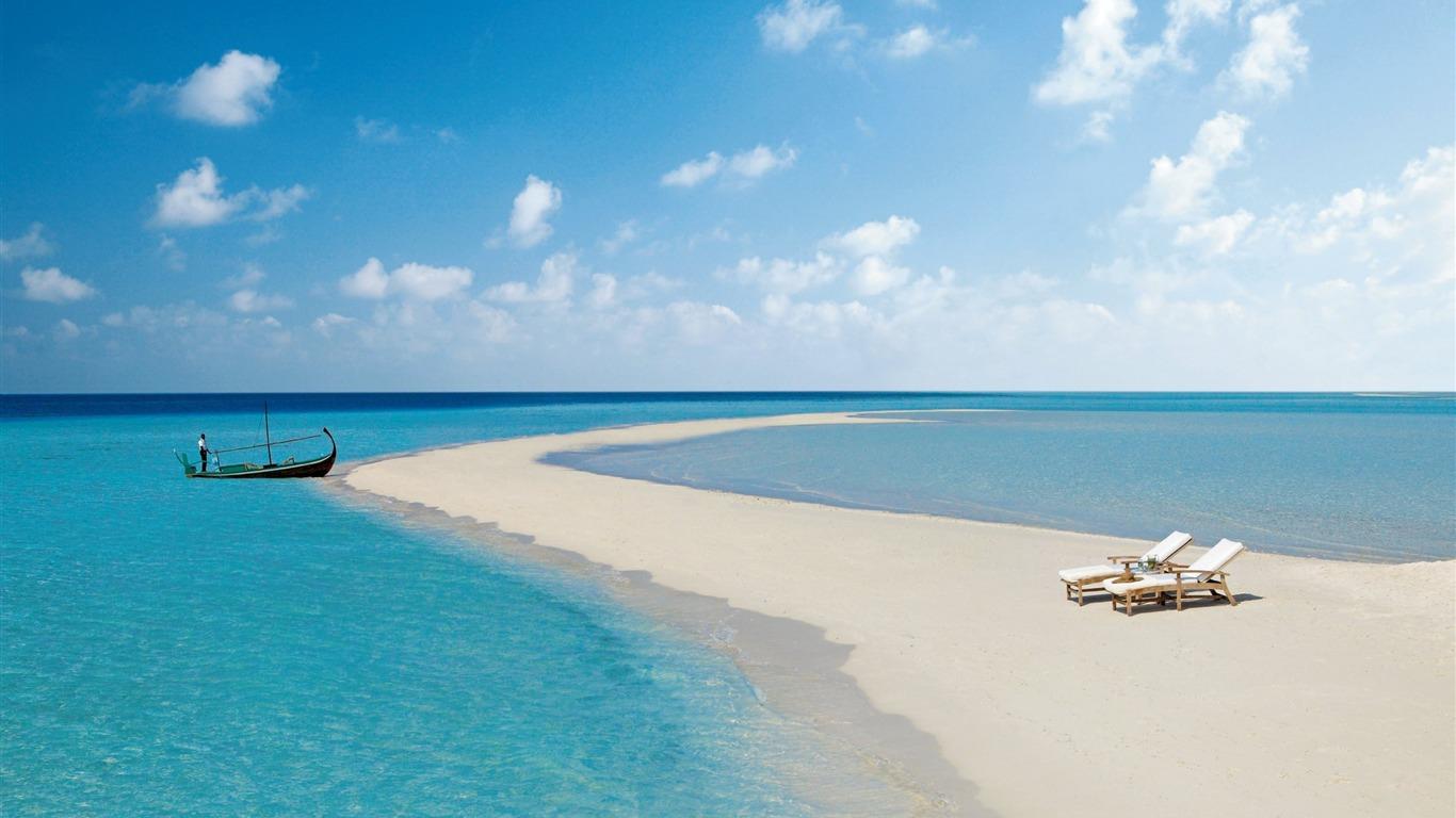 Maldives Beach Tropical Sea Scenery Hd Wallpaper Preview