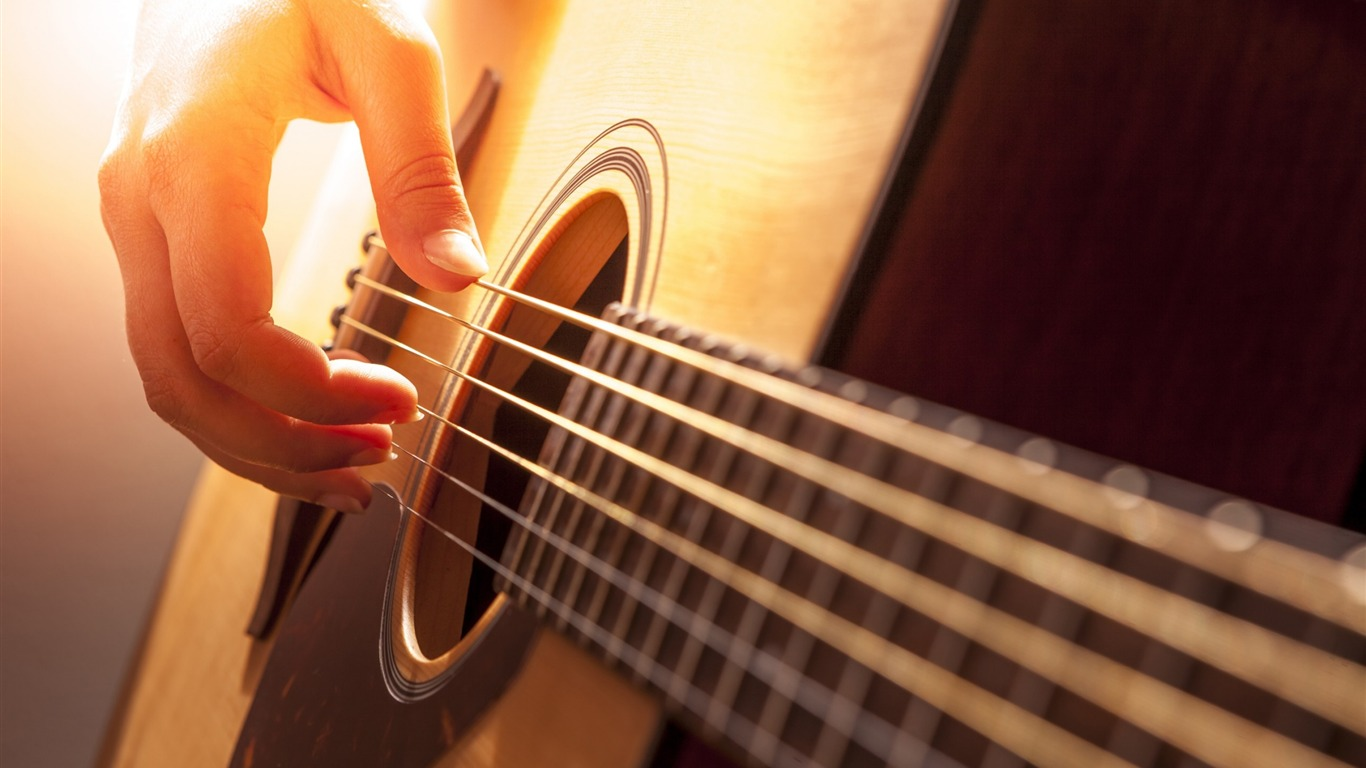 Guitar String And Hand Music Hd Wallpaper Preview 10wallpaper Com