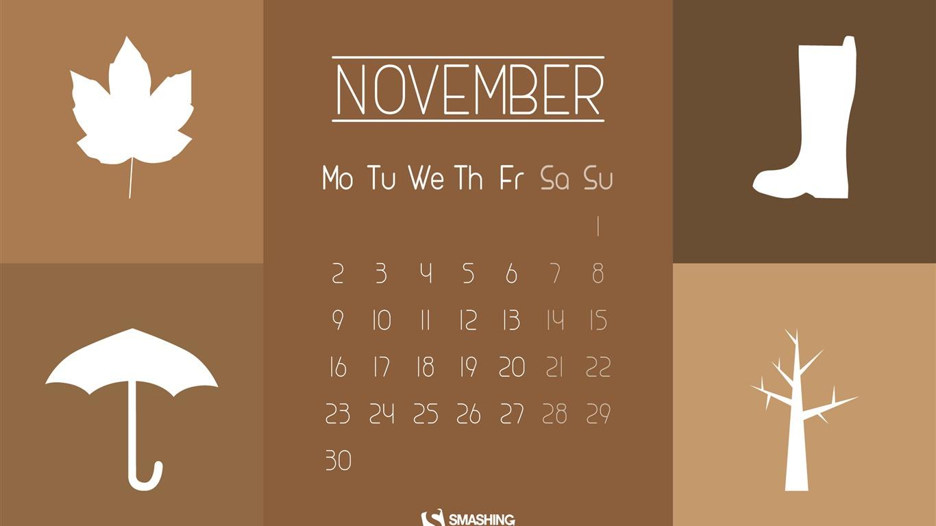 Hello November November 2015 Calendar Wallpaper Preview