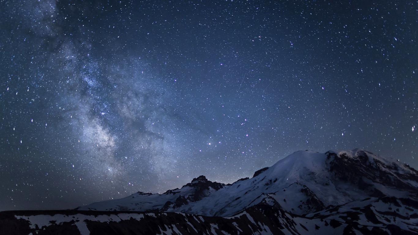 apple mountain lion galaxy wallpaper