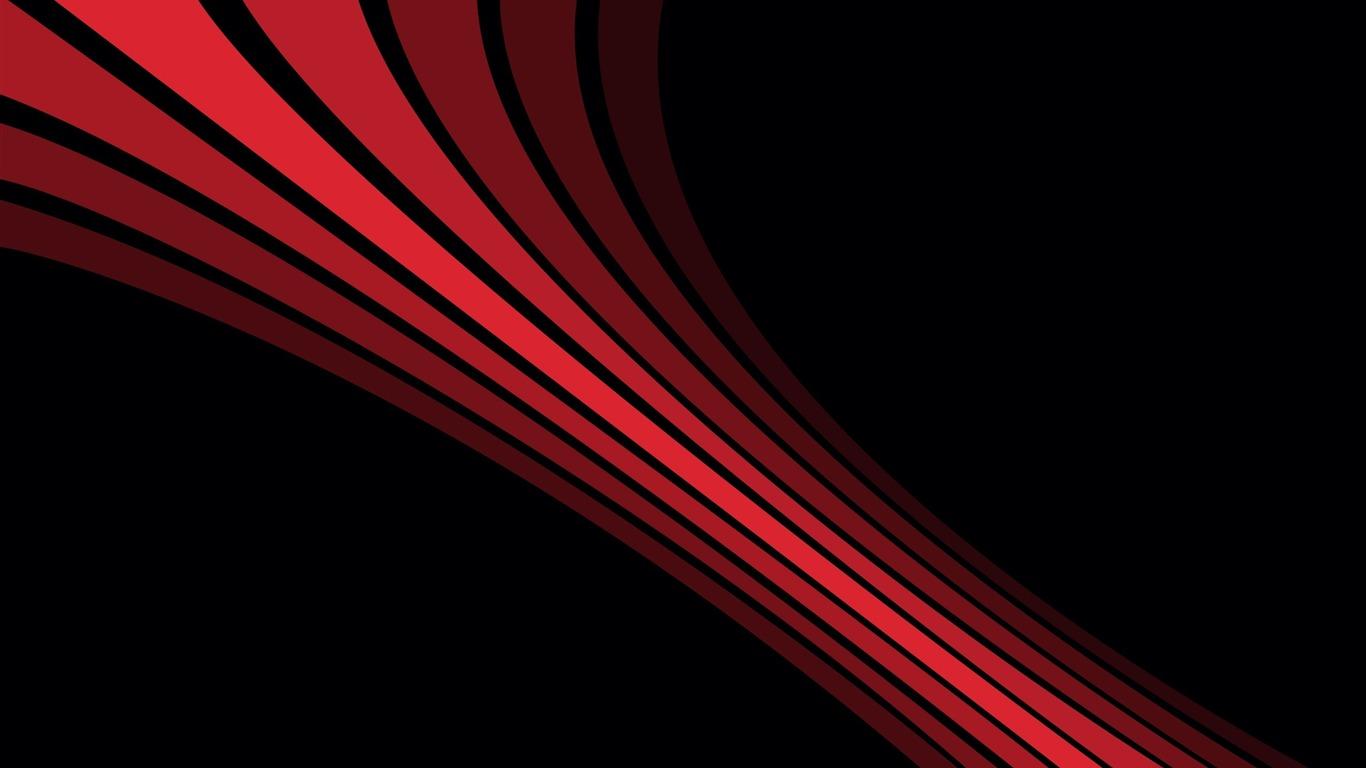 Línea Sombra Rayas Negro Rojo Diseño Fondo De Pantalla Hd
