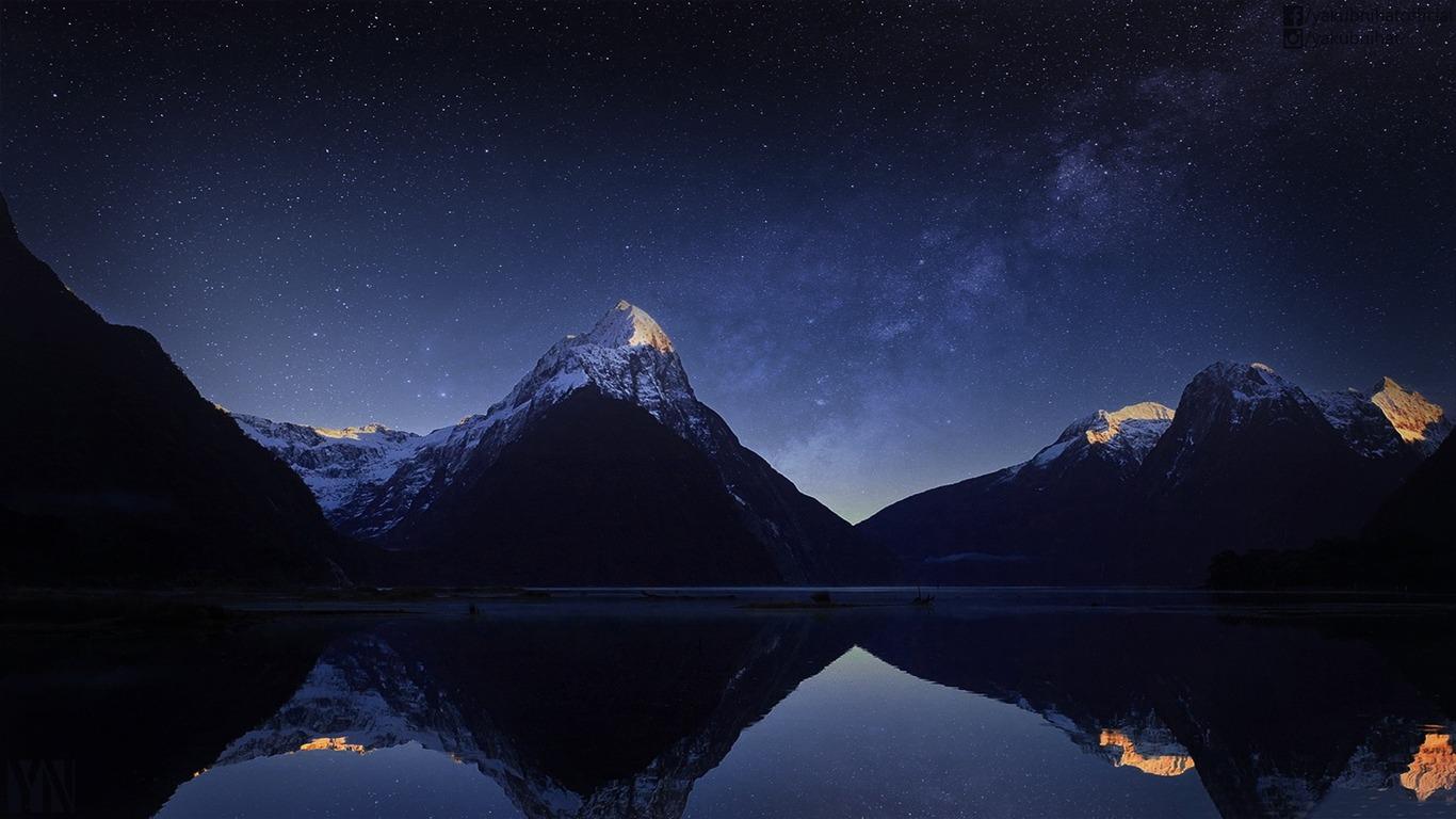Mountain Milky Way Hd Widescreen Wallpaper Preview