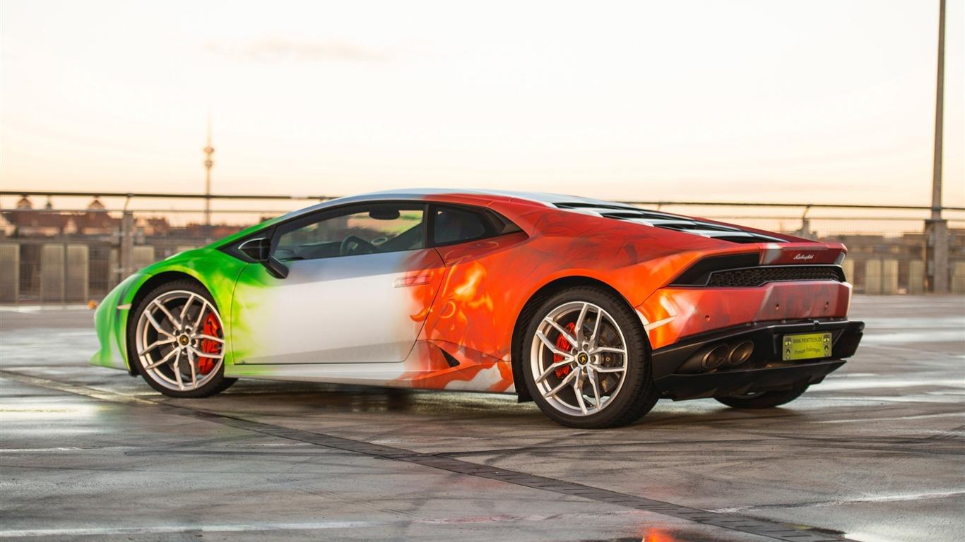 2016 Print Tech Lamborghini Huracan Hd Wallpaper 01 Avance