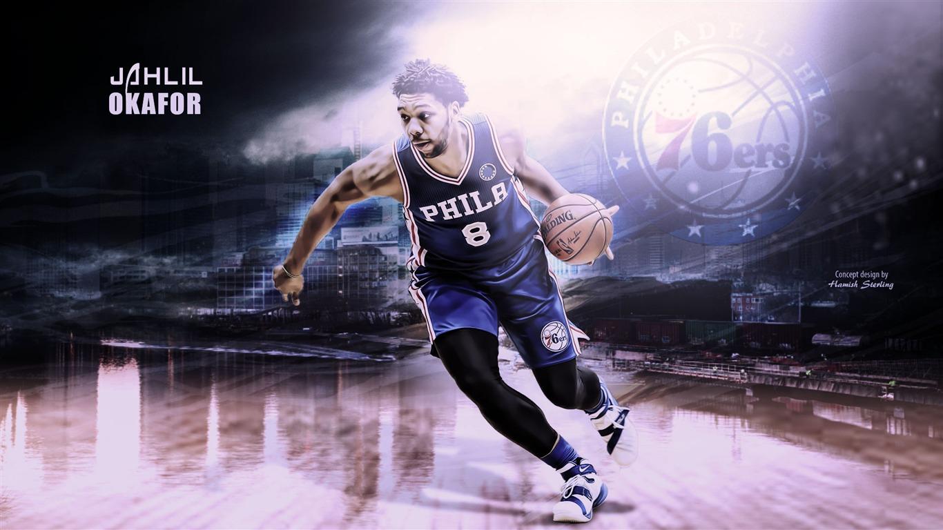Jahlil Okafor Philadelphia 76ers 2016 Nba Basketball Wallpaper