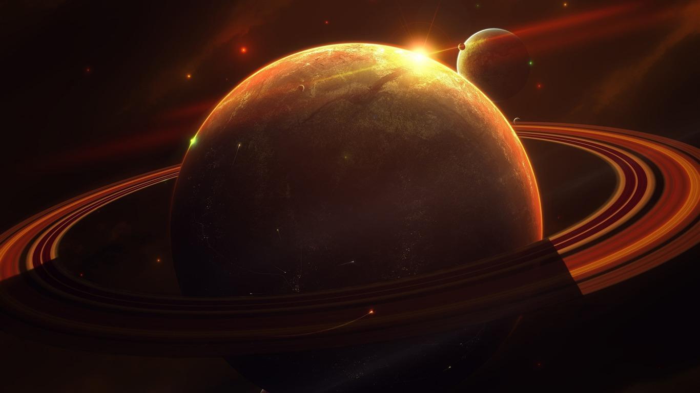 土星スペースプラネット 宇宙のhdの壁紙プレビュー 10wallpaper Com