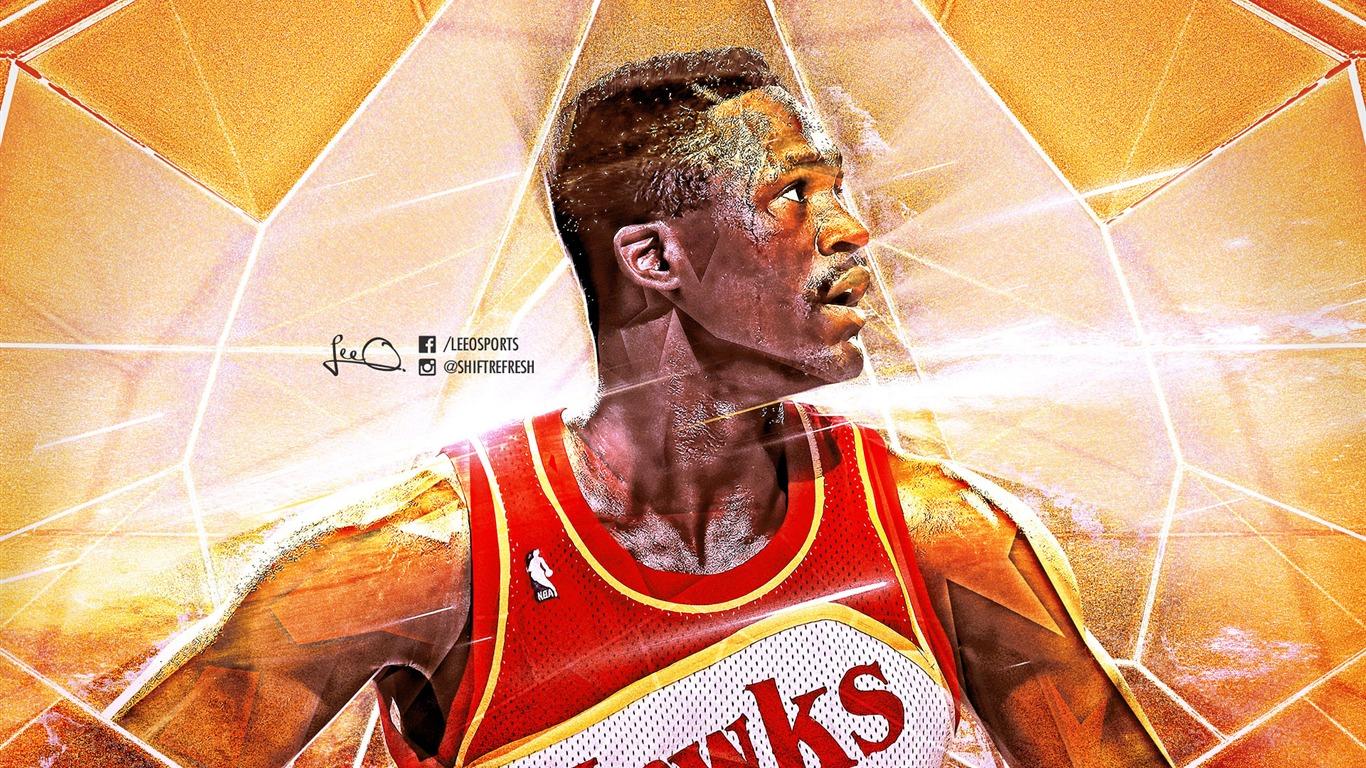 ドミニク ウィルキンスホークス 2016 Nbaバスケットボールのhdの壁紙