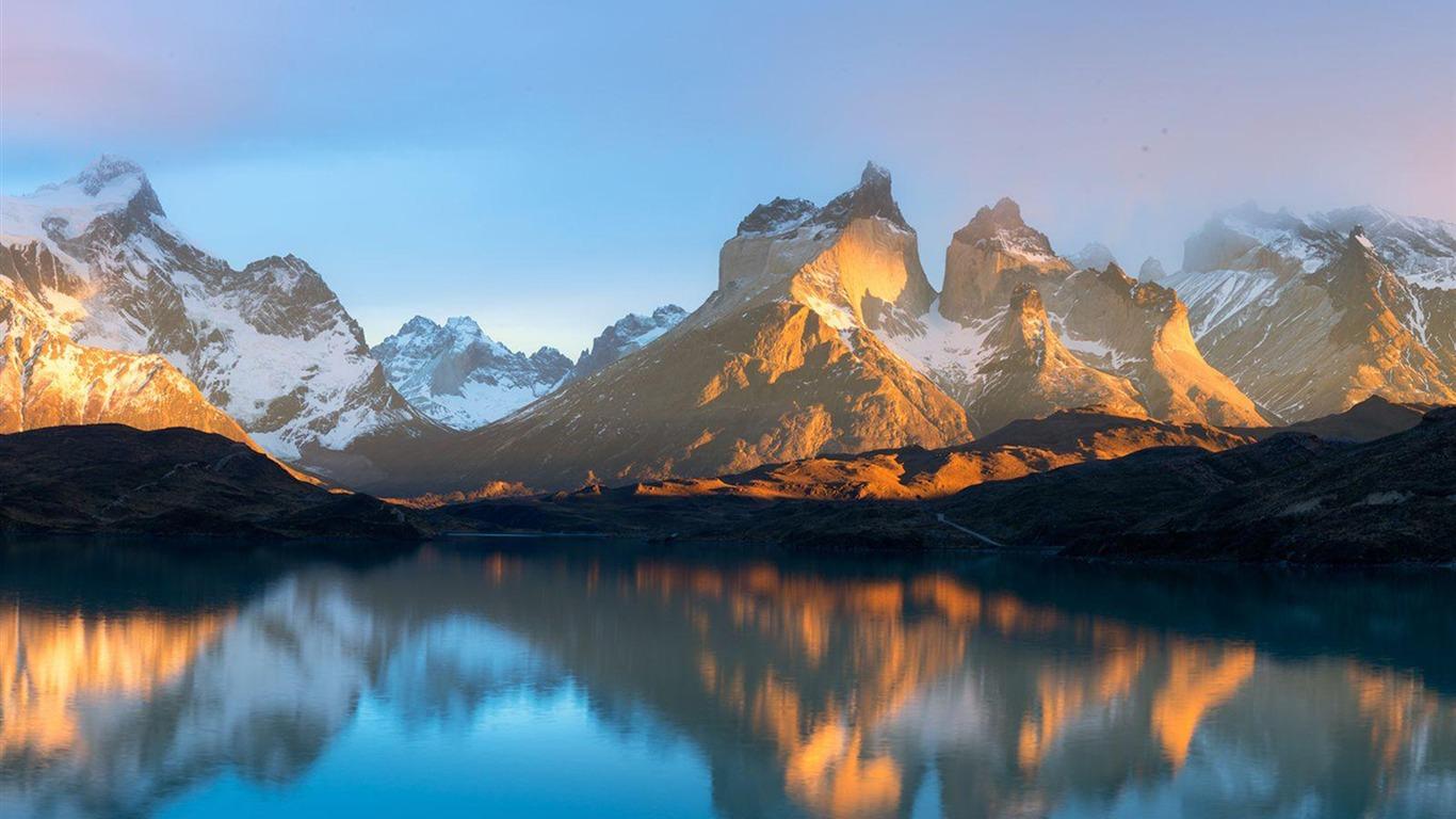 Pehoe Sunrise National Geographic Photo Wallpaper Avance